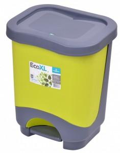 Poza Cos de gunoi EKO 8 l cu galeata si maner verde