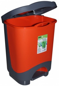 Poza Cos de gunoi cu pedala XL 24 litri orange