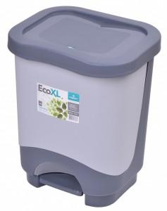 Poza Cos de gunoi EKO XL 24 l cu galeata si maner gri