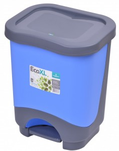 Poza Cos de gunoi EKO XL 24 l cu galeata si maner albastru inchis