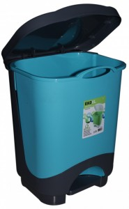 Poza Cos de gunoi cu pedala XL 24 litri albastru