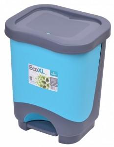 Poza Cos de gunoi EKO XL 24 l cu galeata si maner albastru deschis