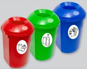 Poza Cos gunoi colectare selectiva 40 l rotund