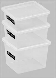 Poza Cutie depozitare cu capac, capacitate 3 litri, dimensiuni 205x170x142.7 mm. Este suprapozabila cu celelalte cutii din aceasta gama