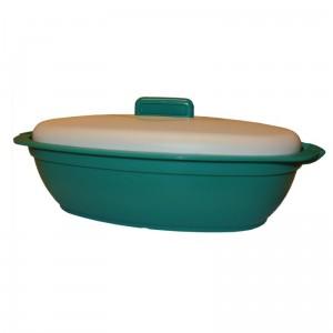 poza Castron oval cu capac verde