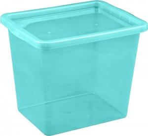 Poza Cutie depozitare cu capac 29 litri albastru deschis
