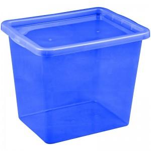 Poza Cutie depozitare cu capac 29 litri albastru inchis