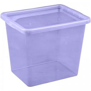 Poza Cutie depozitare cu capac 29 litri culoare leventica (mov)