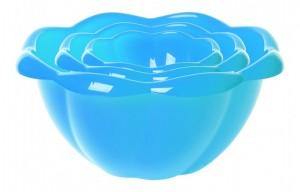 Poza Set 3 boluri Hortensia 13, 20, 28 cm albastru