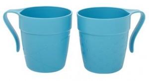 Poza Cana cu maner TWINS 330 ml albastra