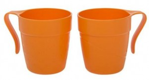 Poza Cana cu maner TWINS 330 ml portocaliu