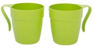 Poza Cana cu maner TWINS 330 ml verde