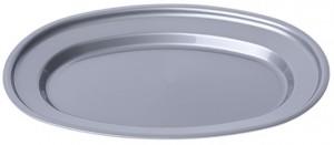 Poza Tava ovala 38x25 cm argintie