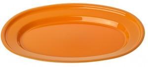 Poza Tava ovala 38x25 cm portocalie