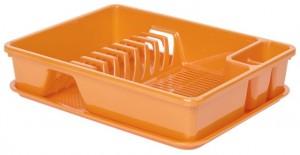 Poza Uscator vase cu tava 40x30x8 cm portocaliu