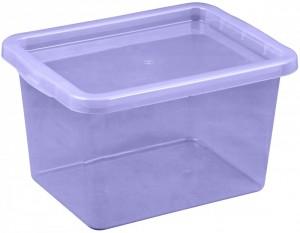 Poza Cutie depozitare cu capac, capacitate 13 litri, dimensiuni 380x285x215.5 mm mov