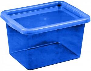 Poza Cutie depozitare cu capac, capacitate 13 litri, dimensiuni 380x285x215.5 mm albastru inchis