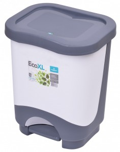 Poza Cos de gunoi EKO XL 24 l cu galeata si maner alb