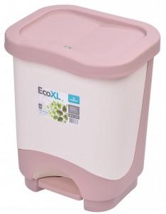 Poza Cos de gunoi EKO XL 24 l cu galeata si maner alb crem