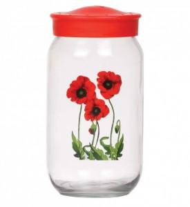 Poza Borcan cu capac 1000 ml model floral Poppy