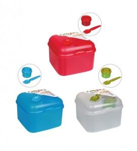 poza Salad box - cutie sandwich + furculita + doza pentru sos