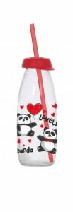 poza Sticla cu capac si pai 500 ml Panda