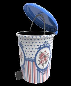 Poza Cos gunoi decorat cu pedala 12 litri albastru