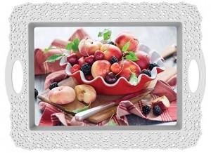 Poza Tava decorata 44.5x33x2.5 cm gourmet