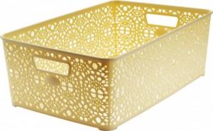 Poza Cosulet depozitare si organizare Monaco, model dantelat, dimensiuni 36x27x6 cm