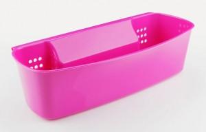 Poza Suport accesorii pentru baie sau bucatarie, dimensiuni: 33x17x9 cm roz