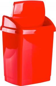 Poza Cos gunoi cu capac batant 18 litri rosu