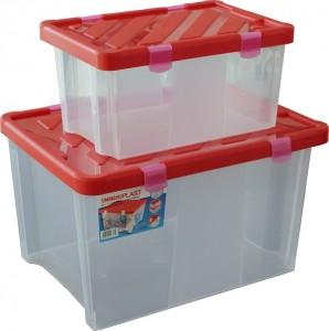 poza Set 2 cutii depozitare 6+19 litri