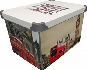 poza CUTIE DEPO LONDON 20 L, dimensiuni 39x29x23.5 cm