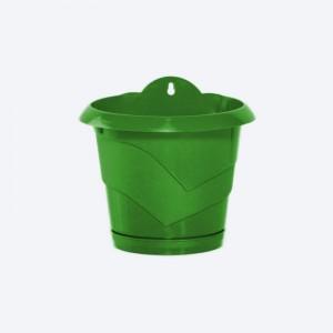 Poza Ghiveci de perete cu agatatoare diametru 17 cm verde