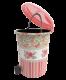Cos gunoi decorat cu pedala 6 litri roz
